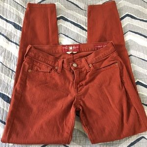 Lucky Brand Charlie Skinny rust colored jeans 2/26